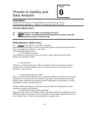 LSN 04 Validity and Data Analysis
