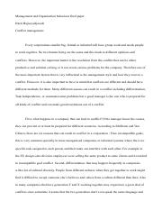 Management paper Final - Confilct managemtn