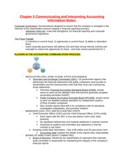 Chapter 5 Communicating and Interpreting Accounting Information Notes
