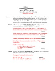 ECO 370 2012 - Term Test 1 Solution Set