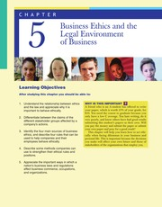 Business Ethics and the Legal Environment of Busines