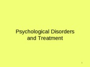 disorders and treatment