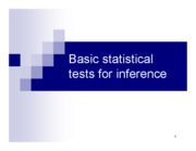 Chapter 4b. Basic statistical tests for inference