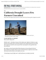 California Drought Leaves Few Farmers Unscathed - WSJ.pdf