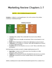Marketing Review Chapter 1