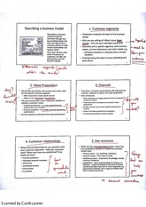 Segments of a Business Model Lecture Notes 10