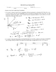 Exam 1 Solution on Physics II without Calculus II