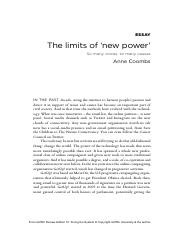 The limits of 'new power'.pdf