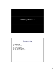 08. Machining Processes