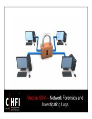 CHFI v4 Module 26 Network Forensics and Investigating Logs