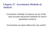 6-Gravimetric Analysis