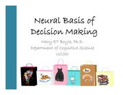 19 COGS11-Neural Basis of Decision Making