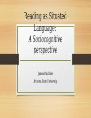 Reading as Situated Language
