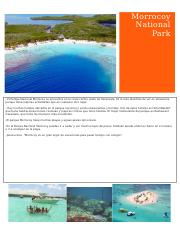 Morrocoy National Park Spanish Project.docx