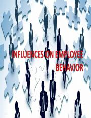 CH 2influencesonemployeebehavior.ppt