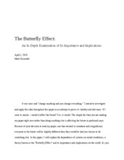 The Butterfly Effect _ Einsiedel