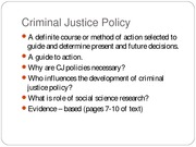 470 Models of Criminal Justice slides