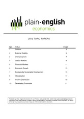 Topic Papers 2012