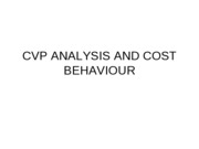 COST BEHAVIOUR[cvp]