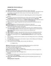 CHEMISTRY STUDY GUIDE #7