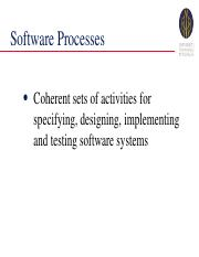 2. Software Process