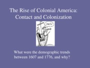 contact and colonization