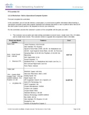 Worksheet Build A Specialized Computer System Answer