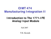 Intro to 1771-IFE