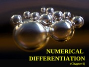 Chap 6  Numerical Differentiation