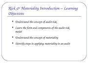 Risk and Materiality-Handout