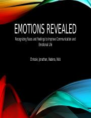 Emotions Revealed 2