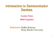 Lecture 15 - MOS Capacitor