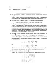 Definition of a Group Example Problems