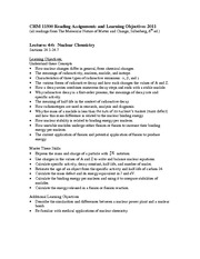 CHM 115 Lecture 4-6 Learning Objectives