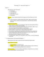 Kinesiology 175 – Study Guide Chapters 1.docx