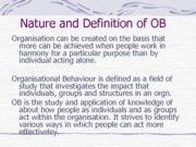 Nature and Definition of OB (Presentation)