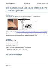 Mechanisms and Dynamics of Machinery 2016 Assignment.docx
