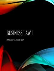 Business Law 1 PowerPoints (Chapters 1-27)