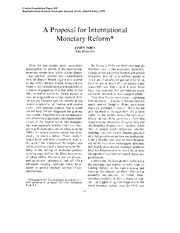 Tobin - A Proposal for IM Reform