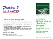 2. Data Link Layer - Overview (KR 6ed)