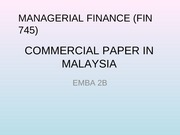 COMMERCIAL PAPER IN MALAYSIA_Presentation