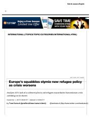 Dim Prospects for Quick Change to EU Migration _ Al Jazeera America.pdf