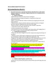BIO LEARNING OBJECTIVES EXAM 3