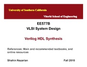 Unit5-VerilogSynthesis-Nazarian-EE577B-Fall10