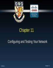 Chapter 11 - Configuring and Testing Your Network