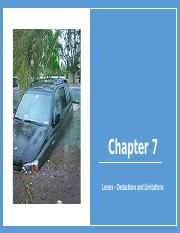 Chapter 7 Losses - Deductions and Limitations