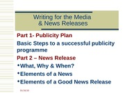 6 Media Relations II_PublicityPlan & Newsrelease_complete