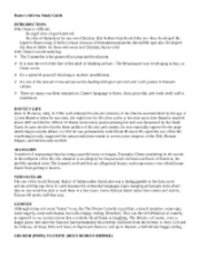 HUM2051 Week 5 Notes-Dante Study Guide