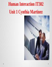 IT302-Unit 1 Assignment-Cynthia Martinez.pptx
