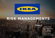 Risk-management at IKEA